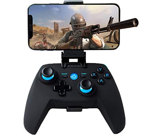 Maegoo Controller für Android/PC/PS3, Bluetooth Wireless Android Controller Mobiler Game mit Einziehbarer Halterung, 2.4G Wireless PC/PS3/TV Controller Gamepad mit Dual Vibration