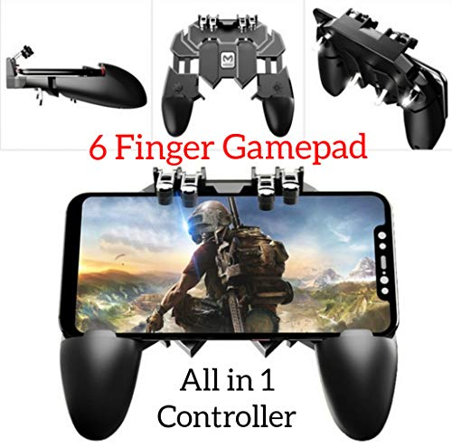 YouFirst Pubg Mobile Controller [ 6 Finger Gamepad/Upgrade Version] COD Mobile Controller | Pubg Controller | Mobile Trigger | Handy Game Controller