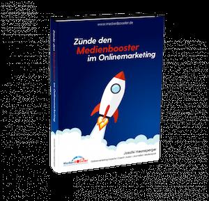 """Buch """"Zünde den Medienbooster im Onlinemarketing"""""""