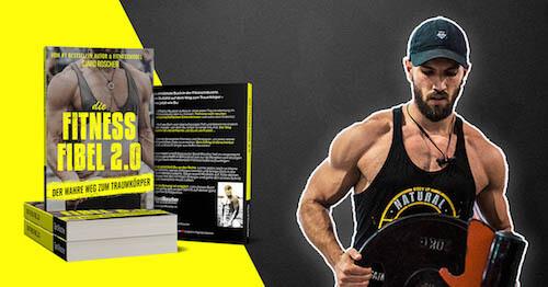 Fitness Buch auch mit Muskelaufbau Shake Inhalten